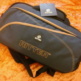 Cornet Bag Ritter Misty Grey - Leather brown